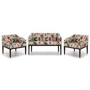Orita Wooden Sofa 2-1-1 (Carmine Cassia) by Urban Ladder