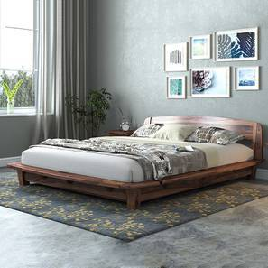 Tahiti Platform Bed (Teak Finish, Queen Bed Size)