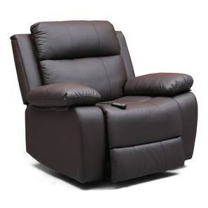 Marvelous Robert Motorized Recliner (Chocolate Leatherette) By Urban Ladder