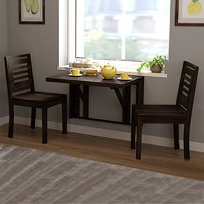 Blaine - Capra 2 Seater Wall Mounted Dining Table Set (Mahogany Finish) by Urban Ladder