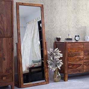 Sirius Standing Mirror (Teak Finish)