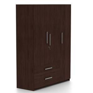 Domenico Wardrobe (Three Door, No Mirror, With Drawer Configuration) by Urban Ladder