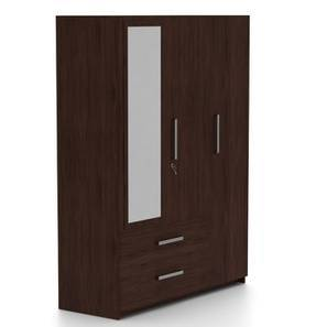 Domenico Wardrobe (Three Door, Yes Mirror, With Drawer Configuration)