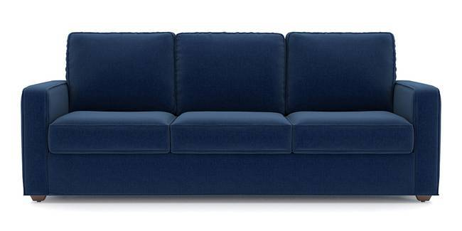 Apollo Sofa Set (Cobalt, Fabric Sofa Material, Compact Sofa Size, Soft Cushion Type, Regular Sofa Type, Master Sofa Component)