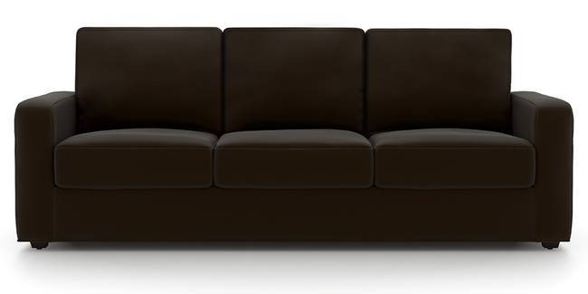 Apollo Sofa Set (Chocolate, Leatherette Sofa Material, Regular Sofa Size, Soft Cushion Type, Regular Sofa Type, Master Sofa Component)