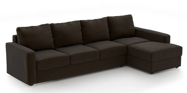 Apollo Sofa Set (Chocolate, Leatherette Sofa Material, Regular Sofa Size, Soft Cushion Type, Sectional Sofa Type, Sectional Master Sofa Component, Regular Back Type, Regular Back Height)