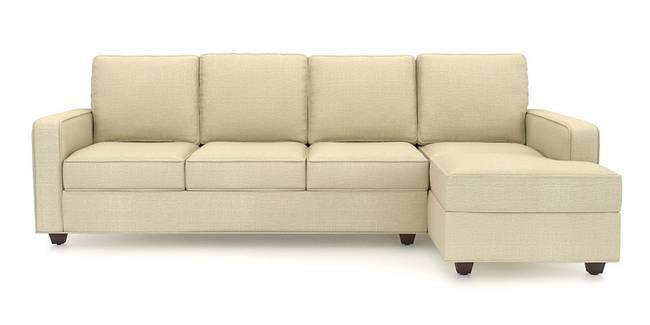 Apollo Sofa Set (Ivory, Fabric Sofa Material, Compact Sofa Size, Soft Cushion Type, Sectional Sofa Type, Sectional Master Sofa Component)