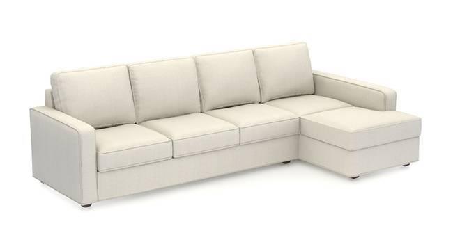 Apollo Sofa (Pearl, Fabric Sofa Material, Compact Sofa Size, Soft Cushion Type, Sectional Sofa Type, Sectional Master Sofa Component)