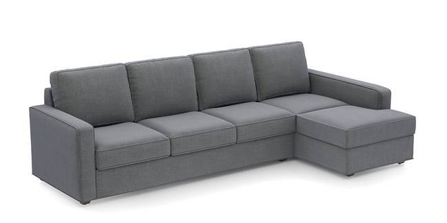 Apollo Sofa Set (Smoke, Fabric Sofa Material, Compact Sofa Size, Soft Cushion Type, Sectional Sofa Type, Sectional Master Sofa Component)