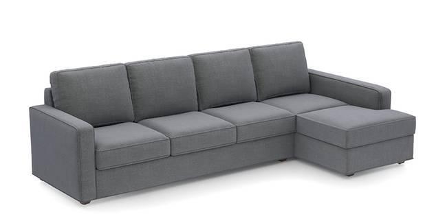 Apollo Sofa (Smoke, Fabric Sofa Material, Compact Sofa Size, Soft Cushion Type, Sectional Sofa Type, Sectional Master Sofa Component)