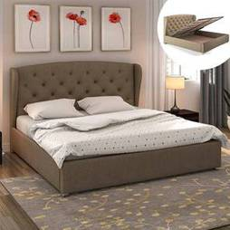Hydraulic upholstered storage bed